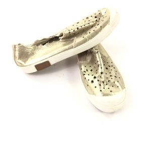 Ugg Uggs Gold Flats Perforated Sneakers Casual 6